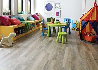Beautiful and durable Karndean in playroom