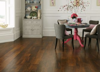 cherry wood Karndean in dining area