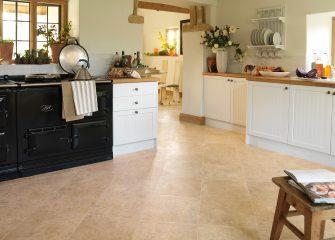Limestone Karndean flooring in kitchen